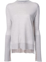 Studio Nicholson Lightweight Crew Neck Knit Top Grey