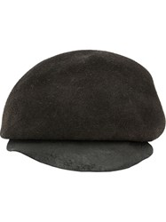 Horisaki Design And Handel Suede Beret Black