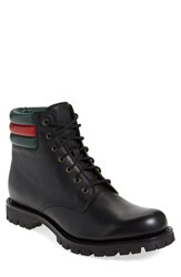 Men's Gucci 'Marland' Plain Toe Boot Nero Leather