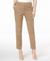 Charter Club Slim Leg Cropped Pants Only At Macy's Classic Taupe
