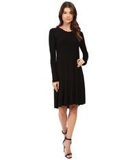 Norma Kamali Long Sleeve Swing Dress Black Women's Dress