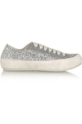 Pedro Garcia Parson Glitter Finished Suede Sneakers