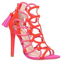 Carvela Gabriel Caged Stiletto Sandals Red Comb