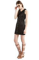 Women's Topshop Snap Front Faux Suede Dress