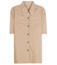 Miu Miu Cotton Shirt Beige