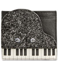 Kate Spade New York Piano Card Holder Black White