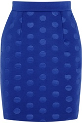 Stella Mccartney Polka Dot Scuba Jersey Mini Skirt