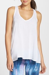 Hard Tail Split Racerback Tank White