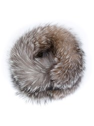 Agnona Fox Fur Collar Brown
