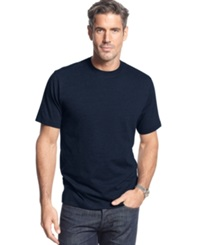 John Ashford Short Sleeve Crew Neck Solid T Shirt Navy Blue