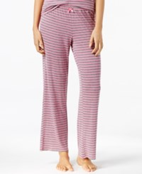 By Jennifer Moore Striped Knit Pajama Pants Only At Macy's Pink Grey Stripe
