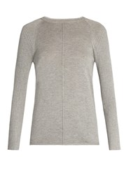 Frame Round Neck Silk And Cashmere Blend Sweater