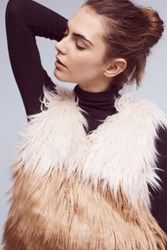 Anthropologie Mother Faux Fur Vest Ivory