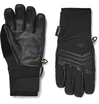 Burton Ak Clutch Leather And Dryride Ultrashell Ski Gloves Black