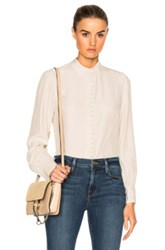 Frame Denim Victorian Button Up Top In Neutrals