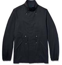 Oamc Virgin Wool Blend Field Jacket Navy
