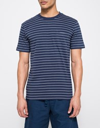 Obey Group Pocket Tee Navy Multi