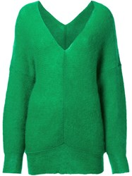 G.V.G.V. Off Shoulder Pullover Green