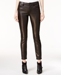 Bar Iii Coated Twill Pants Only At Macy's Deep Black