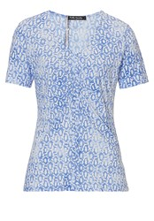Betty Barclay Short Sleeved Printed Top Blue Multi
