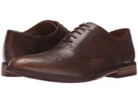Hush Puppies Style Brogue Tan Smooth Leather Men's Lace Up Wing Tip Shoes
