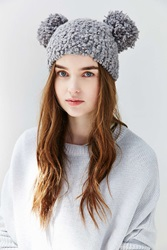 Urban Outfitters Animal Ears Beanie Charcoal