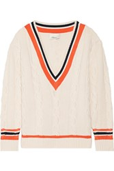 3.1 Phillip Lim Cable Knit Wool Blend Sweater Cream