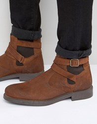 Asos Chelsea Boots In Tan Suede With Faux Shearling Lining Tan