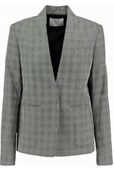 Alexander Wang Wool Blend Tweed Blazer Gray
