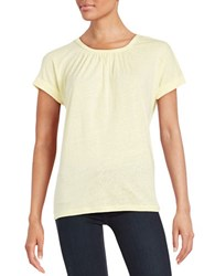 Lord And Taylor Pintucked Tee Firefly
