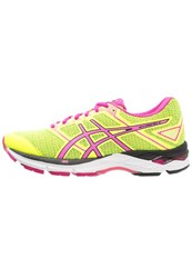 Asics Gelphoenix 8 Stabilty Running Shoes Safety Yellow Pink Glow Black Neon Yellow