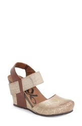 Women's Otbt 'Rexburg' Wedge Sandal Chestnut Gold Leather