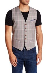 Ted Baker Checked Waistcoat Red