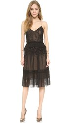 Jason Wu Collage Lace Slip Dress Black