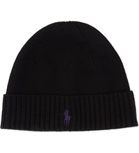 Ralph Lauren Merino Wool Fold Hat Polo Black