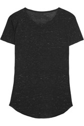 Iris And Ink Luisa Slub Jersey T Shirt Charcoal