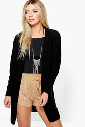 Boohoo Edge To Edge Boyfriend Cardigan Black