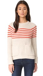 Elizabeth And James Tucker Sweater Oatmeal Bright Rust