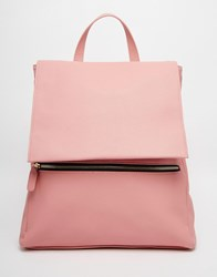 Asos Zip Front Square Backpack Pink