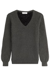 Vionnet Knit Pullover With Angora Grey