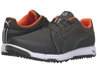 Puma Grip Sport Forest Night Vibrant Orange Men's Golf Shoes Black