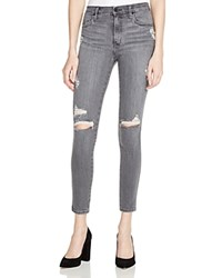 Nobody Cult Destructed Skinny Ankle Jeans In Overcast