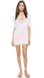Milly Ipanema Embroidered Cover Up White