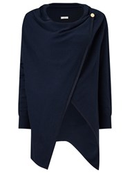 Jacques Vert Oversized Wrap Cardigan Navy