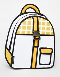 Jumpfrompaper Grid Buckle Backpack Yellow