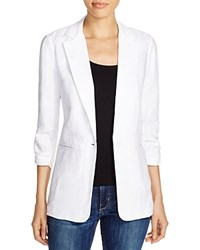 Michael Michael Kors Notch Lapel Linen Blazer White