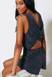 Silence And Noise Silence Noise Two Twisted Romper Black