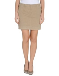 Aspesi Mini Skirts Beige