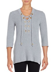 Michael Michael Kors Lace Up Tunic Top Pearl