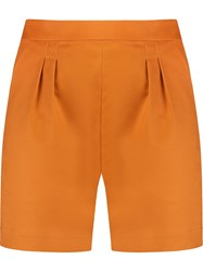 Andrea Marques Pleat Detail High Waisted Short Yellow And Orange